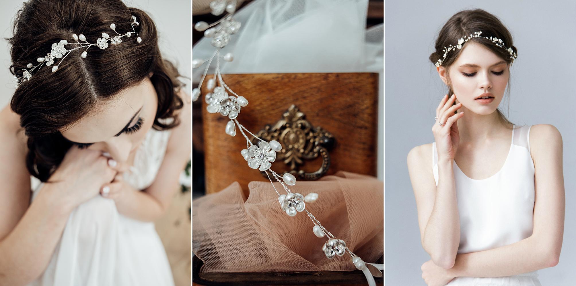 6aa83cfe74 ... jak księżniczka dobrym rozwiązaniem są tiary wysadzane kryształkami lub  perełkami. Piękne suknie ślubne wspaniale współgrają również z takimi  dodatkami.
